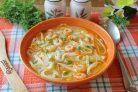 Суп с креветками и лапшой
