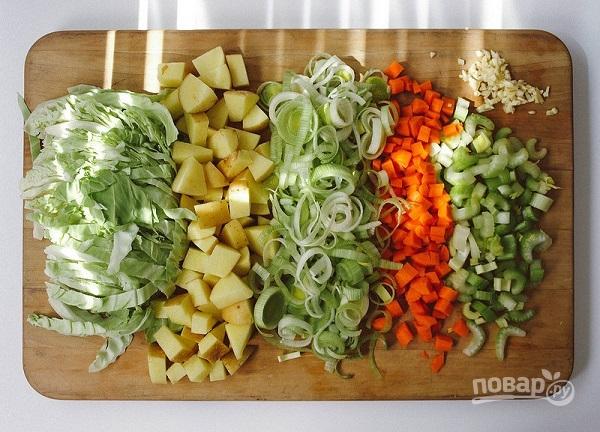 Овощной суп с капустой