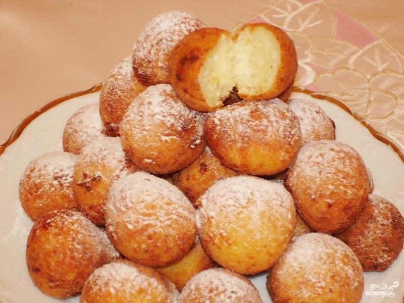 рецепт пончиков творожных с фото