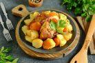Кролик с картошкой в майонезе в духовке