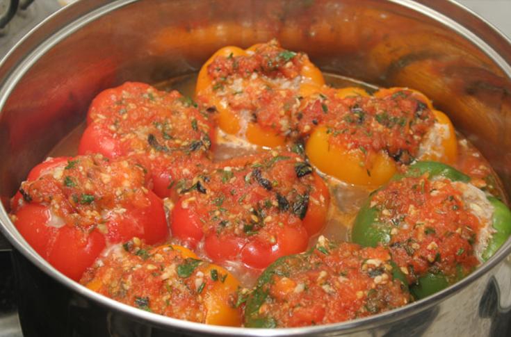 соус для переца фаршированный мясом и рисом рецепт