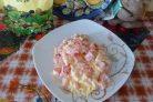 Лучший рецепт салата Цунами с майонезом