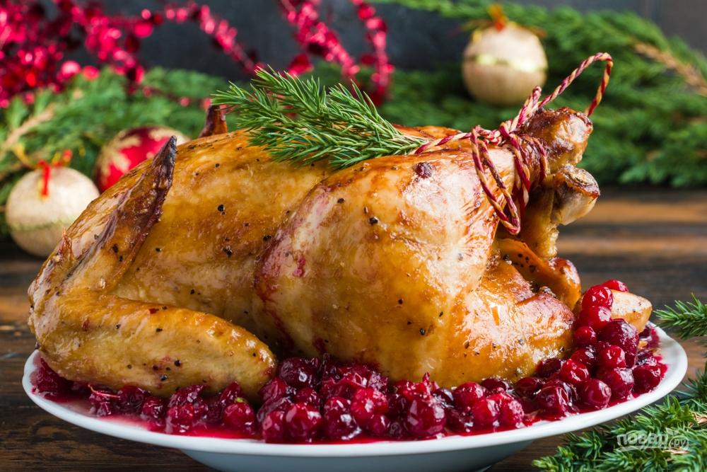 Курица запеченная с розмарином