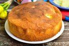 Бисквит с консервированным ананасом
