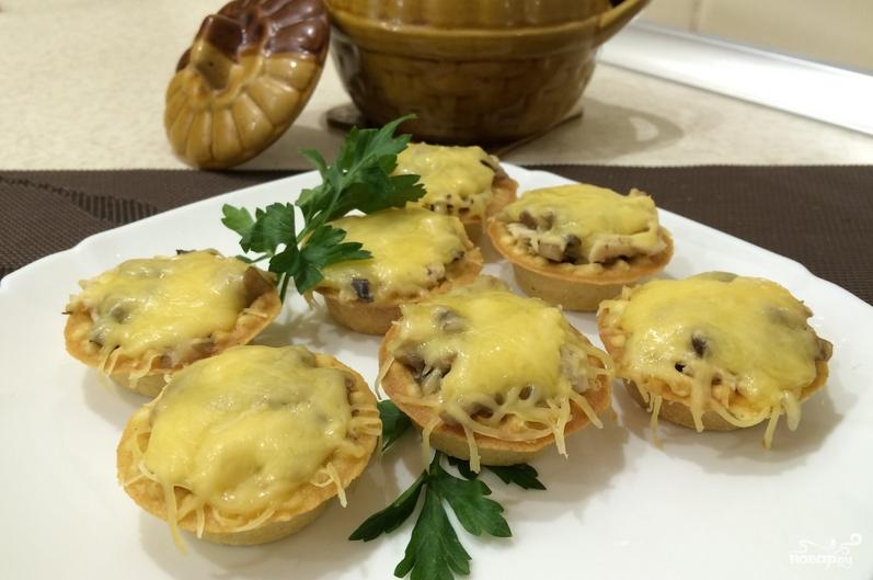 тарталетки с грибами и сыром в духовке