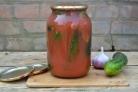 Огурчики в томатном соке