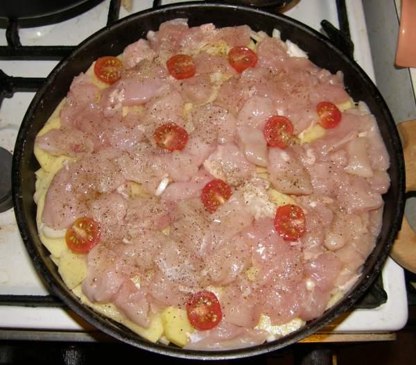 Запеканка с картошкой и курицей