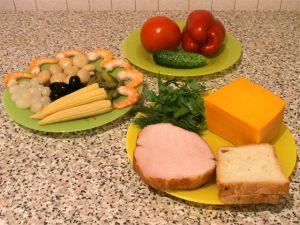 Канапе из мяса и овощей