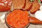 Хреновая закуска из помидор