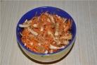 Кальмары с морковью