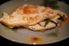 Омлет с голубым сыром
