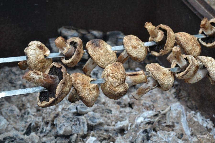 Грибы на шампурах