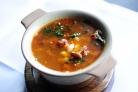 Суп из лисичек с фасолью
