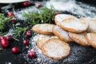 Песочное печенье с клюквой