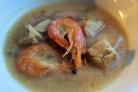 Суп на кокосовом молоке с креветками