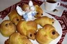 Постные булочки Жаворонки