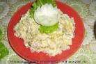 Салат с селедкой и яблоками