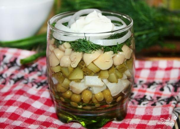 рецепт салата из огурцов под водочку