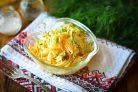 Салат с жареной редькой