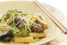 Лапша с тофу и грибами
