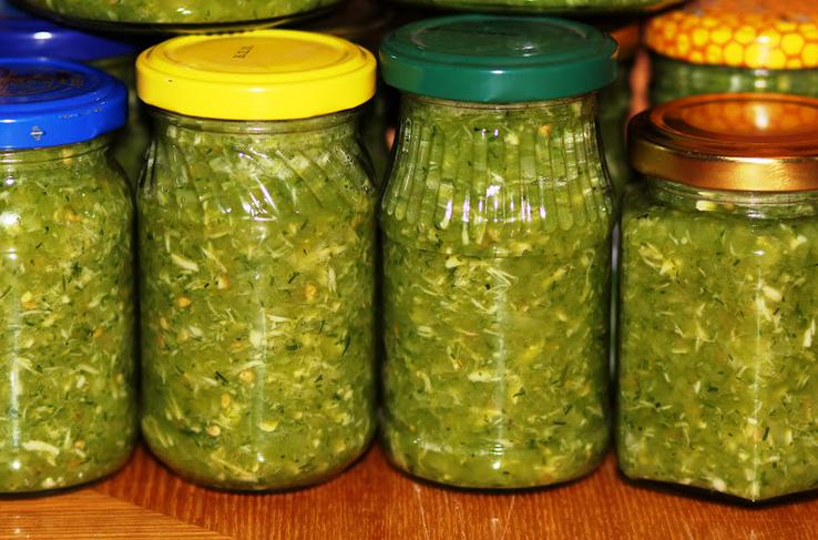 аджика из зелёных помидор на зиму рецепты с фото