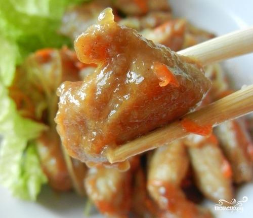 Рецепт Свинина по-китайски в кисло сладком соусе