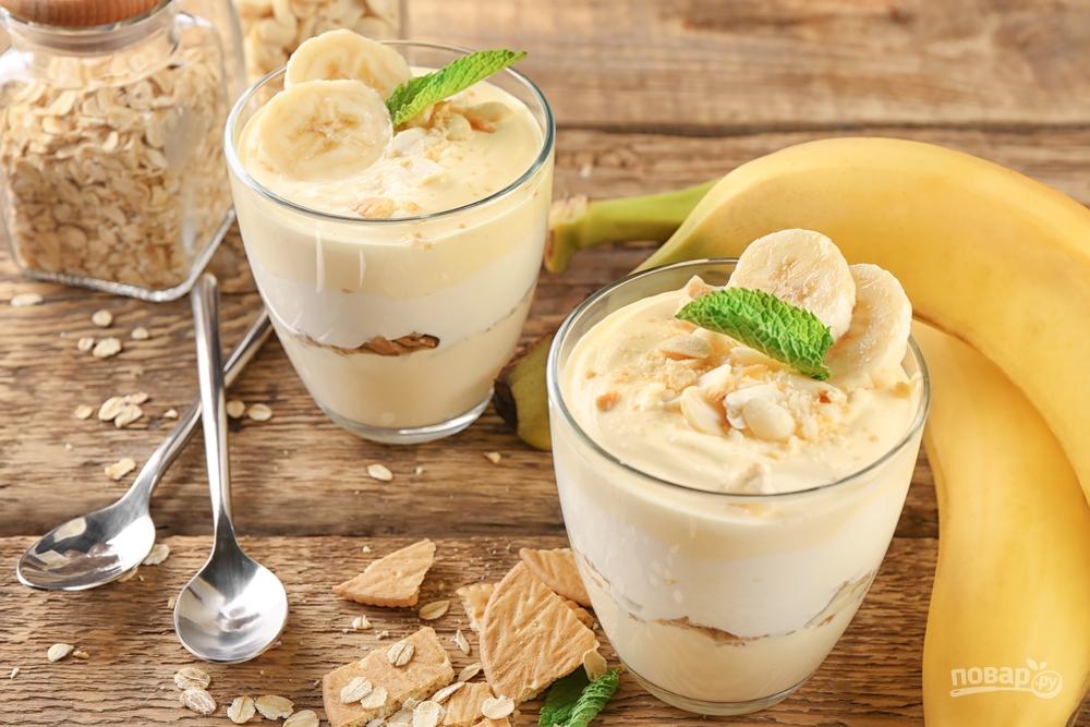 Простой десерт с бананом