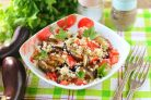 Салат с кускусом и баклажанами