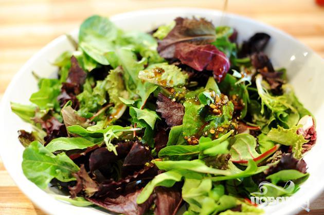 Салат с мясом и имбирем