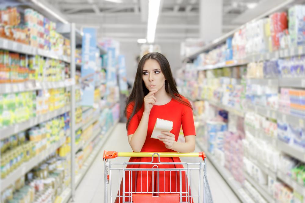 Сэкономить в магазине поможет заранее составленный список продуктов.