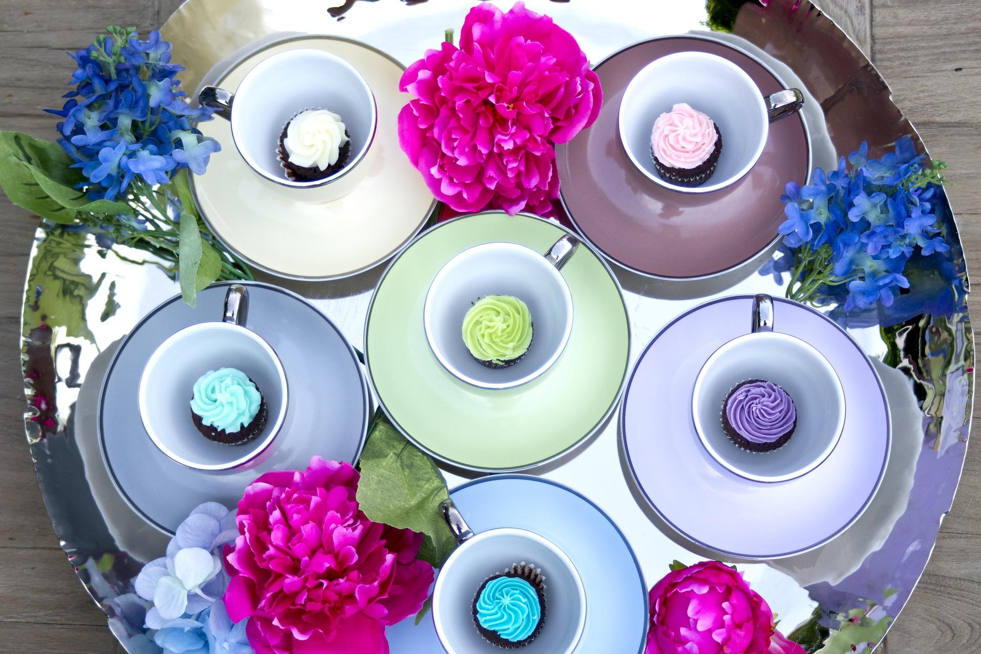 Десертные кексики в чашках