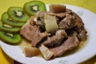 Тушеное мясо в мультиварке Панасоник