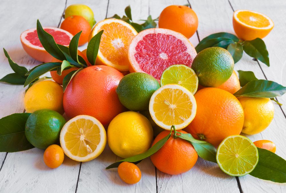 Цитрусовые: апельсин, грейпфрут, лимон, лайм