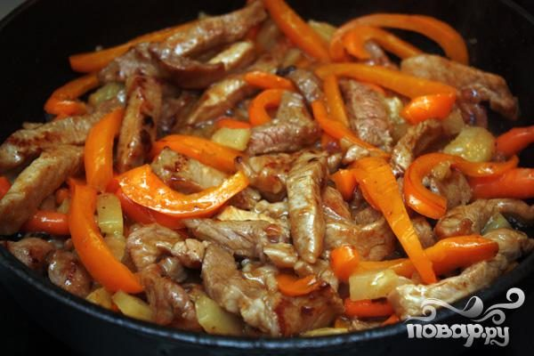 Рецепт Рецепт свинины в кисло-сладком соусе