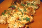 Шашлык из курицы на сковороде