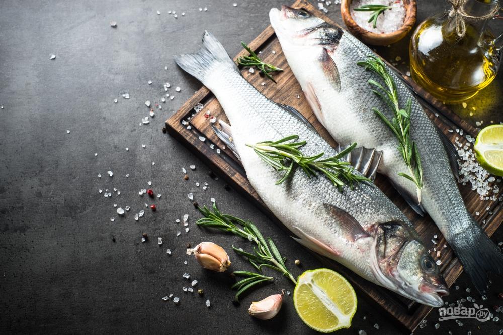 Запеченная рыба с розмарином
