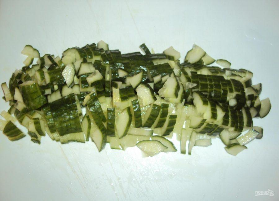 Салат из трески горячего копчения