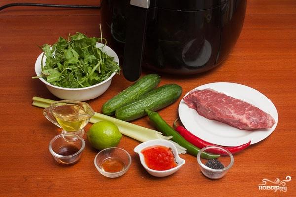 Салат пикантный с говядиной