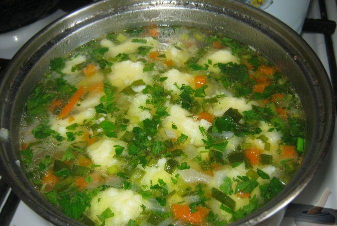 Как делать клецки в суп из манки