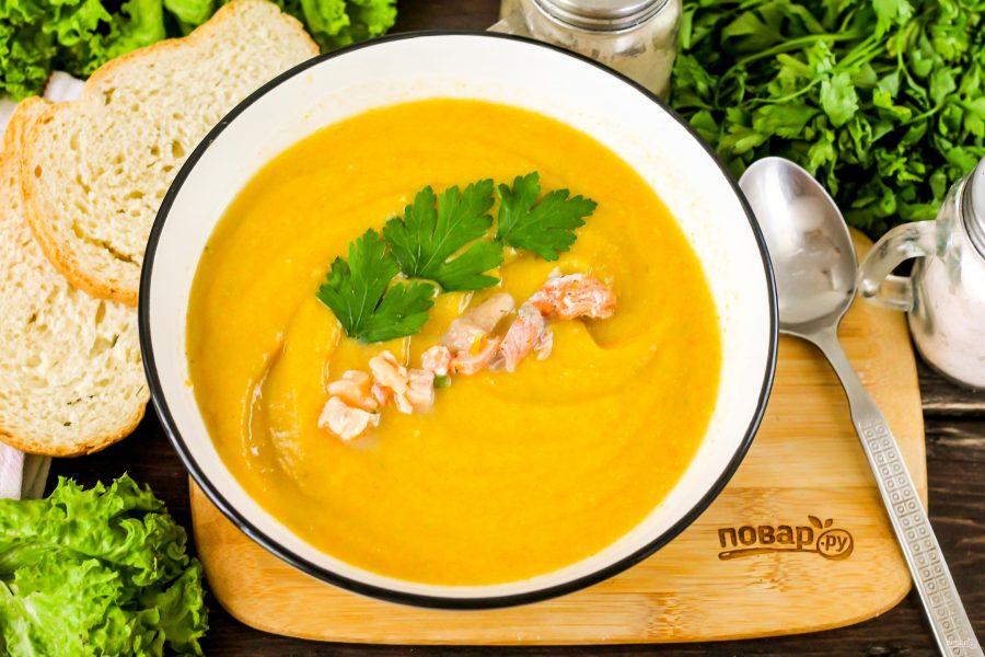 Суп с форелью