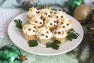 Новогодние тарталетки Мышки с сырной начинкой