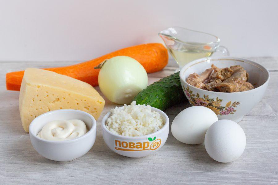 Слоеный салат «Лесная загадка»