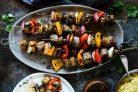 Кебаб из говядины и овощей