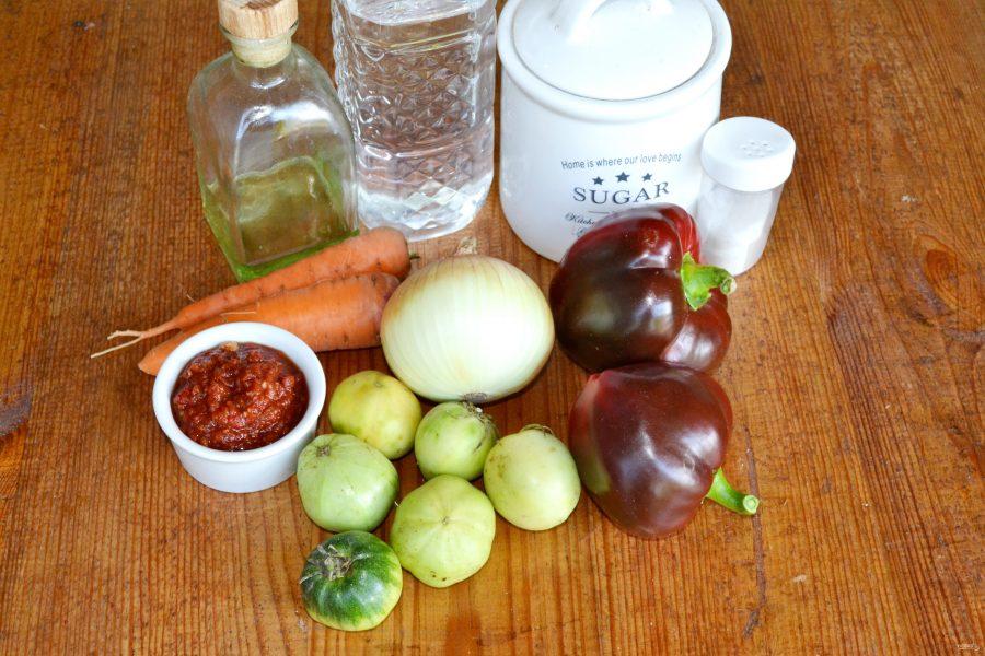 лечо из зеленых помидор
