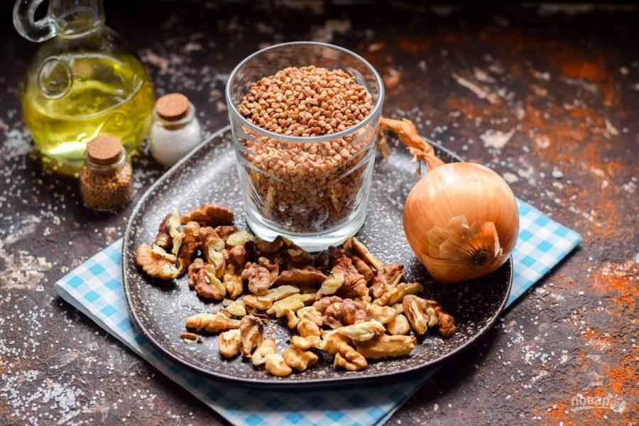 Ингредиенты для гречки с орехами