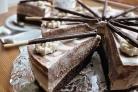 Торт Зебра с творожным и шоколадным кремом