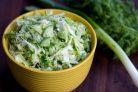 Салат из свежей капусты и огурца