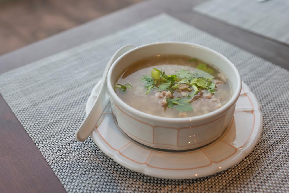 Суп с крупой и свежей зеленью