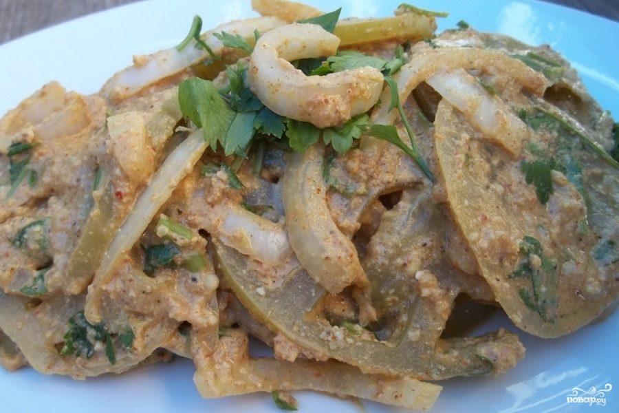 видео рецепты салата из зеленых помидоров