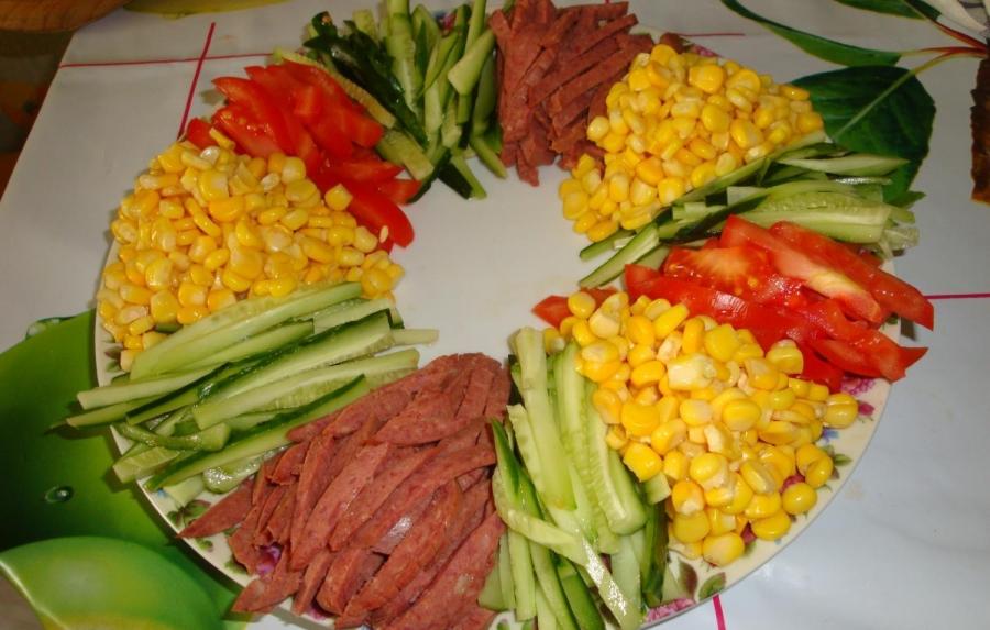 салат радуга как приготовить ютуб